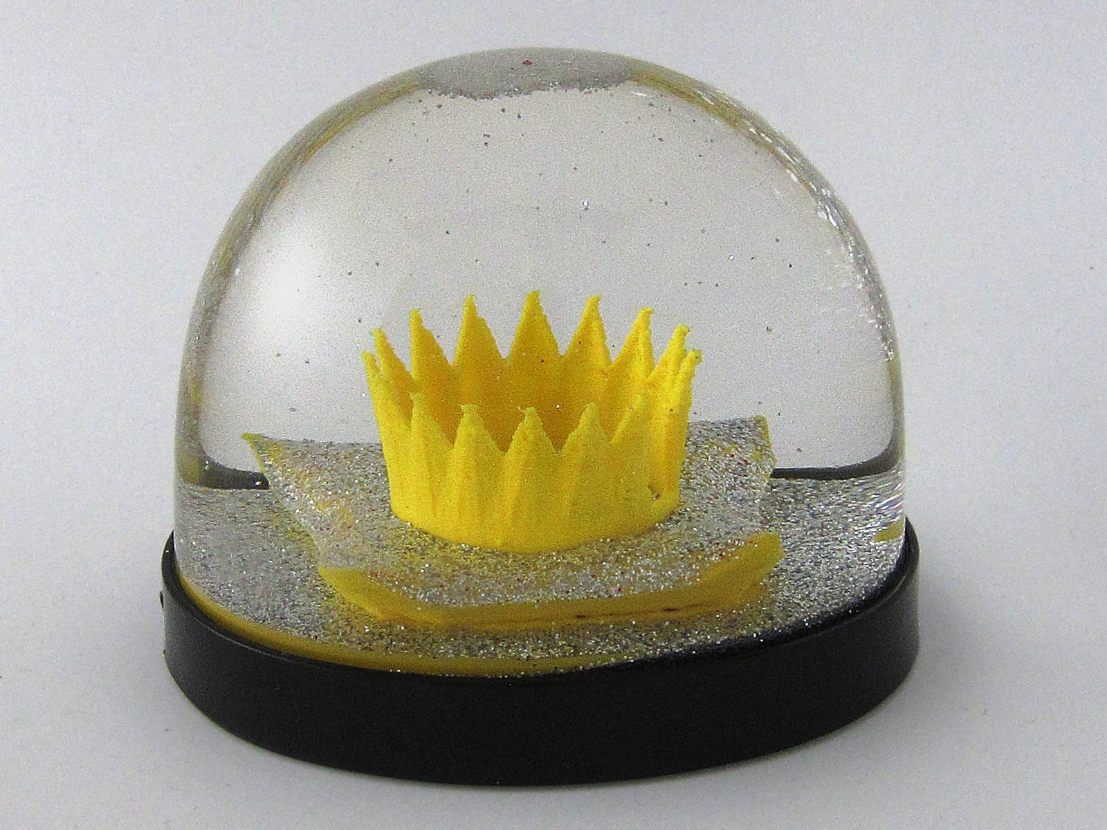 Krone als Schneekugel, Snowdome- 3D-Druck