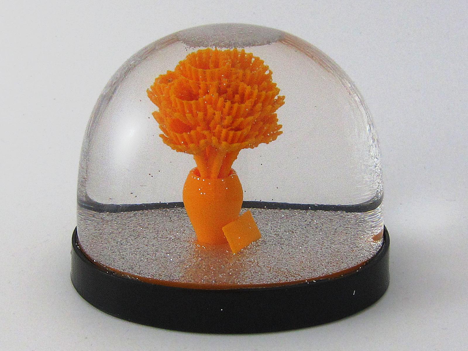 Blumenstrauss Schneekugel Snowdome