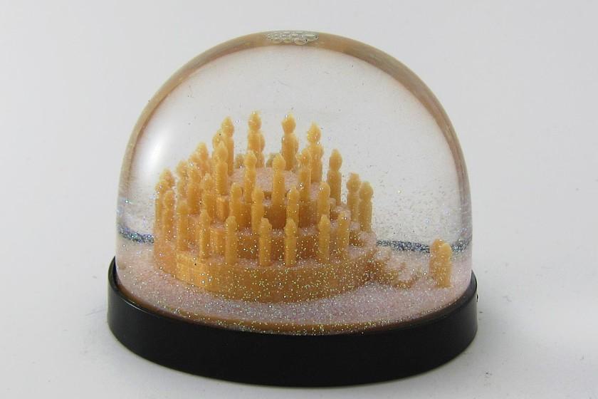 Geburtstagstorte als Schneekugel, Snowdome- 3D-Druck